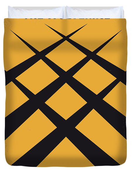 No222 My Wolverine Minimal Movie Poster Duvet Cover