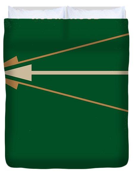 No237 My Robin Hood Minimal Movie Poster Duvet Cover by Chungkong Art