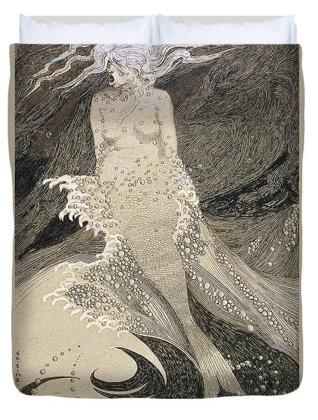 The Mermaid Duvet Cover by Sidney Herbert Sime
