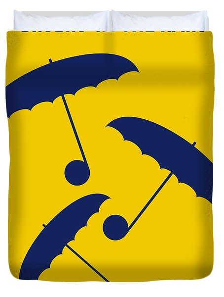 No254 My Singin In The Rain Minimal Movie Poster Duvet Cover by Chungkong Art