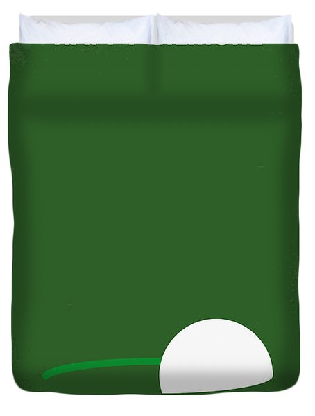 No256 My Happy Gilmore Minimal Movie Poster Duvet Cover by Chungkong Art