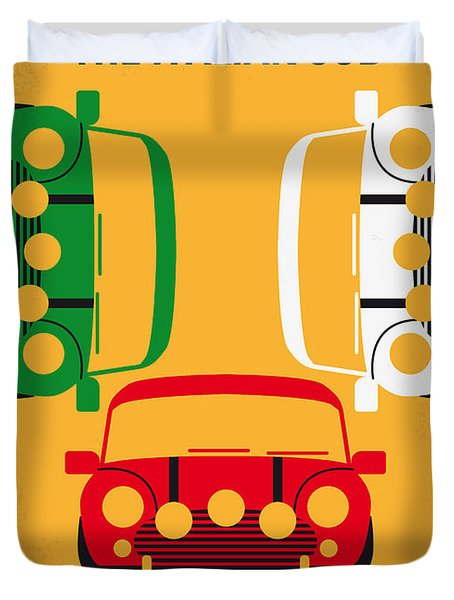 No279 My The Italian Job Minimal Movie Poster Duvet Cover