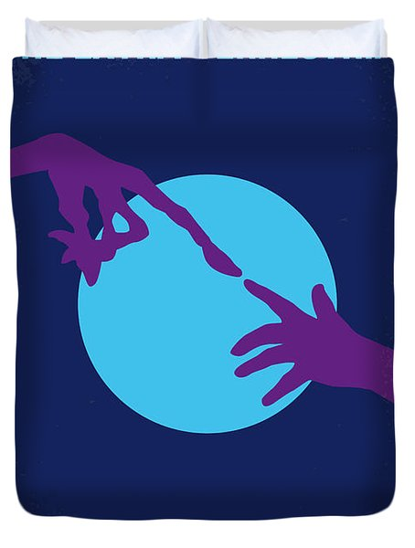 No282 My Et Minimal Movie Poster Duvet Cover