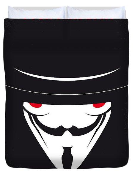 No319 My V For Vendetta Minimal Movie Poster Duvet Cover
