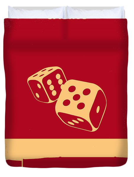 No348 My Casino Minimal Movie Poster Duvet Cover