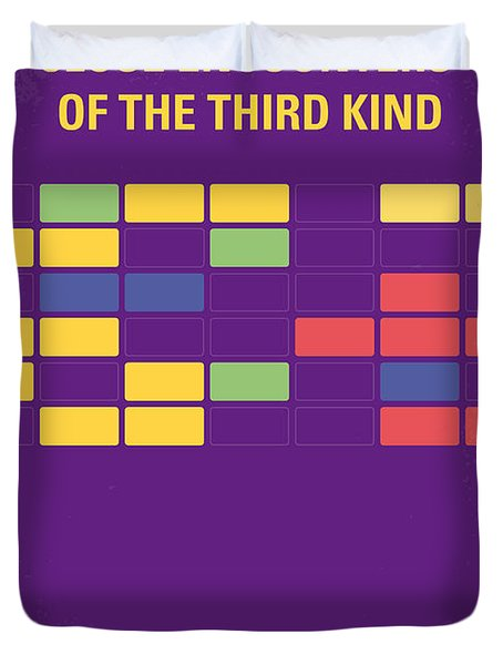 No353 My Encounters Of The Third Kind Minimal Movie Poster Duvet Cover