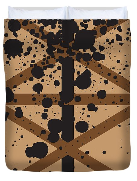 No358 My There Will Be Blood Minimal Movie Poster Duvet Cover