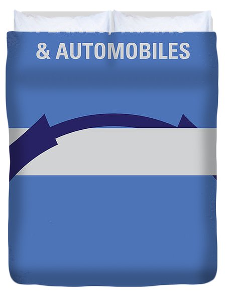 No376 My Planes Trains And Automobiles Minimal Movie Poster Duvet Cover