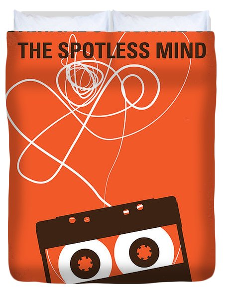No384 My Eternal Sunshine Of The Spotless Mind Minimal Movie Pos Duvet Cover