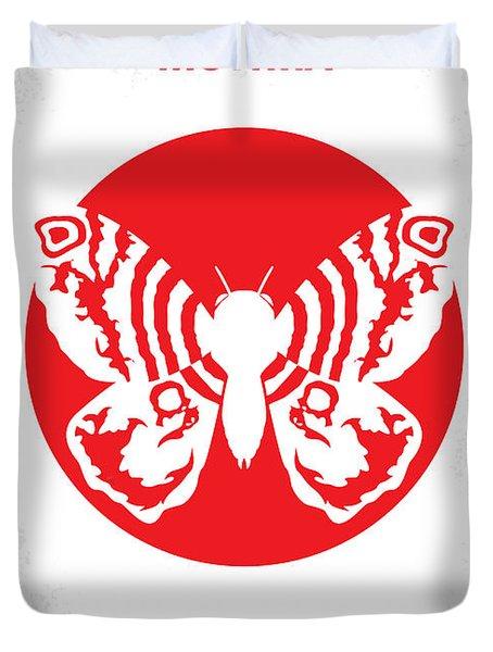 No391 My Mothra Minimal Movie Poster Duvet Cover