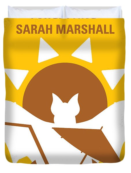 No393 My Forgetting Sarah Marshall Minimal Movie Poster Duvet Cover