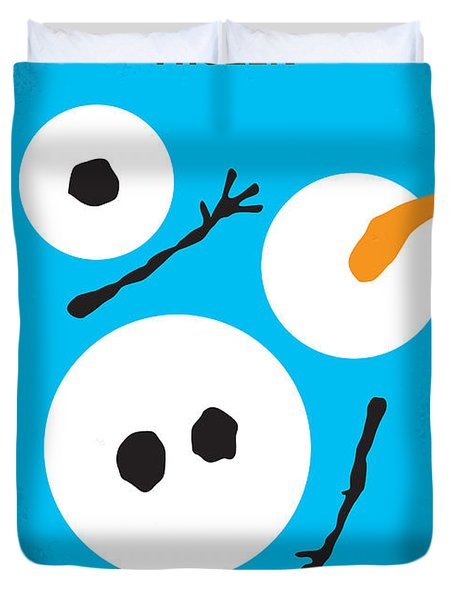 No396 My Frozen Minimal Movie Poster Duvet Cover by Chungkong Art