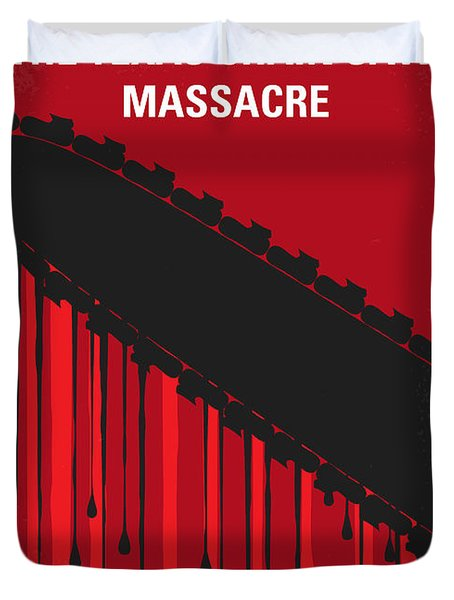 No410 My The Texas Chain Saw Massacre Minimal Movie Poster Duvet Cover