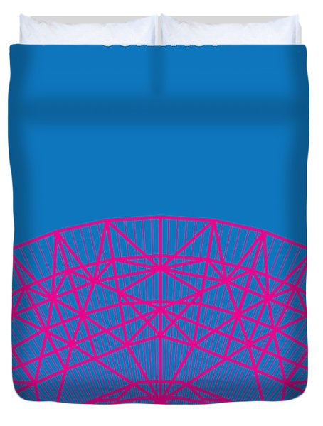 No416 My Contact Minimal Movie Poster Duvet Cover