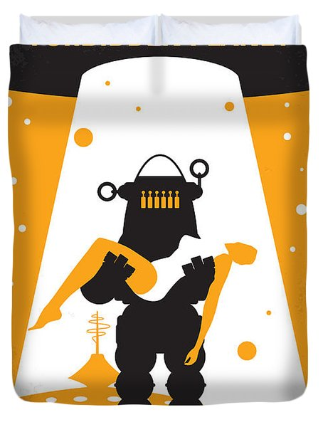 No415 My Forbidden Planet Minimal Movie Poster Duvet Cover