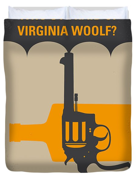 No426 My Whos Afraid Of Virginia Woolf Minimal Movie Poster Duvet Cover by Chungkong Art
