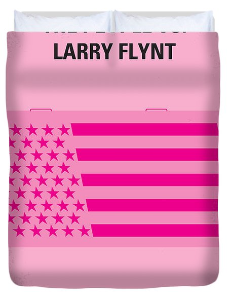No395 My The People Vs Larry Flint Minimal Movie Poster Duvet Cover