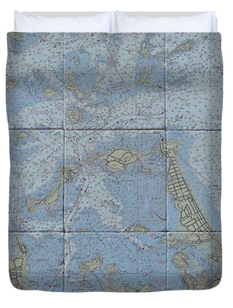 Noaa Chart Of Boston Harbor  Duvet Cover