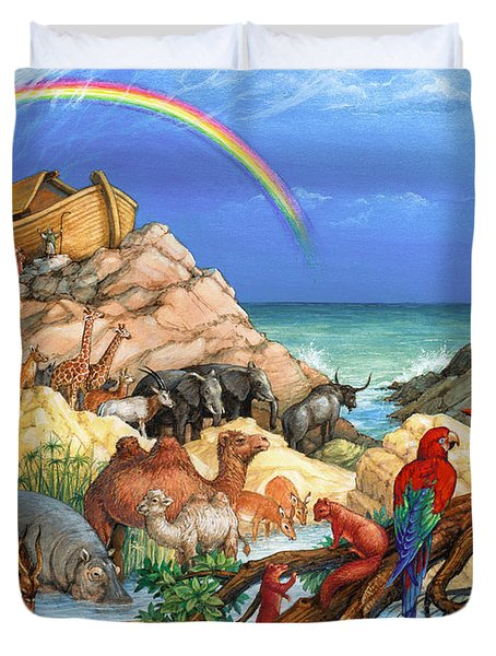 Noah And The Ark Duvet Cover