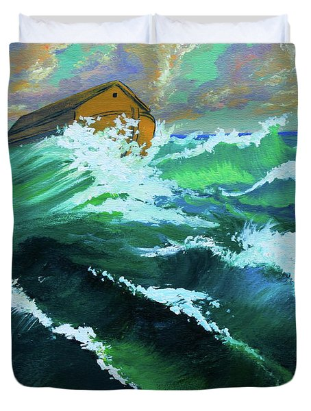 Noah's Ark Duvet Cover by Karon Melillo DeVega