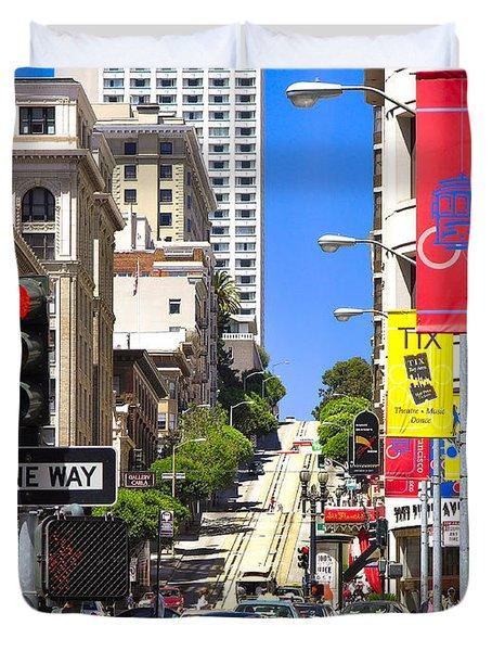 Nob Hill - San Francisco Duvet Cover