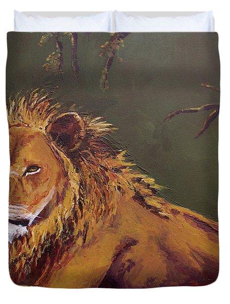 Noble Guardian - Lion Duvet Cover