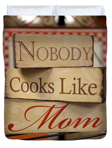 Nobody Cooks Like Mom - Square Duvet Cover