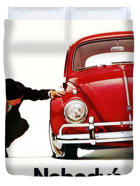 Nobodys Perfect - Volkswagen Beetle Ad Duvet Cover
