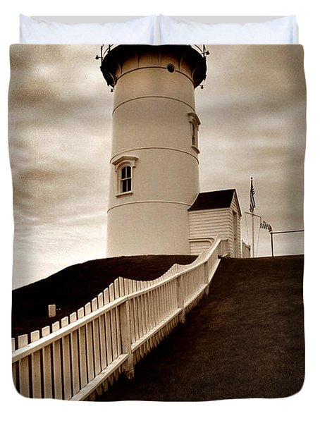 Nobska Lighthouse Duvet Cover