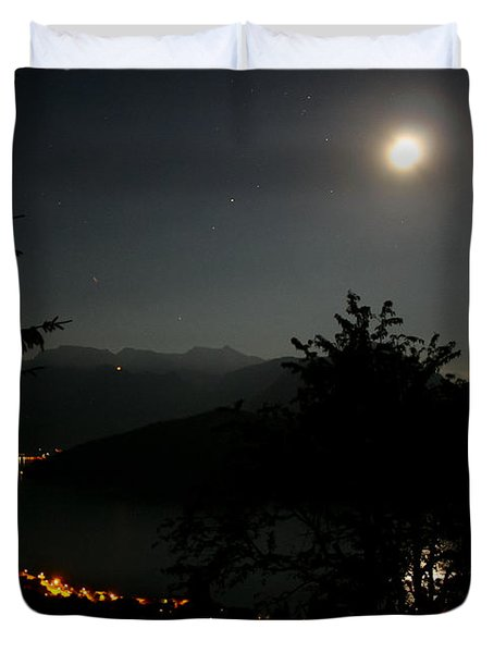 Nocturne In Switzerland Duvet Cover