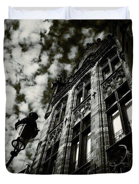 Noir Moment In Brugges Duvet Cover