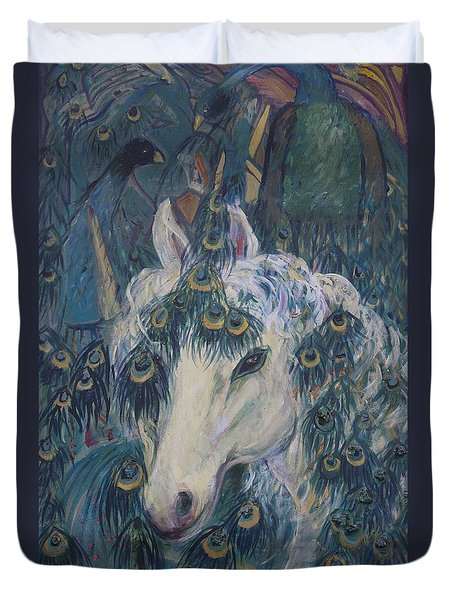 Nola's Unicorn Duvet Cover