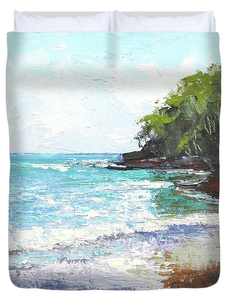 Noosa Heads Main Beach Queensland Australia Duvet Cover by Chris Hobel