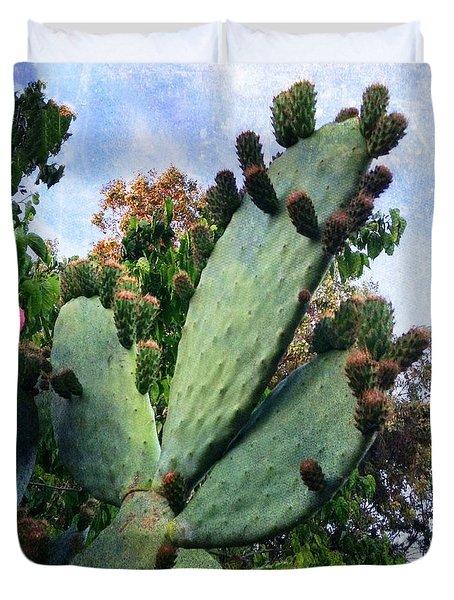 Nopales Cactus Duvet Cover