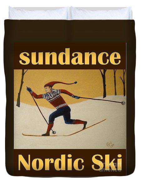 Nord Ski Poster Duvet Cover