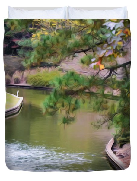 Norfolk Botanical Gardens Canal 7 Duvet Cover by Lanjee Chee