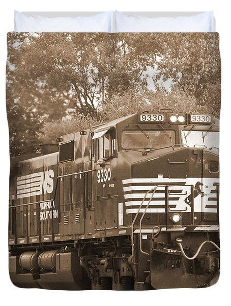 Norfolk Southern Freight Train Duvet Cover