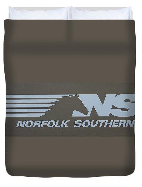 Norfolk Southern Railway Art Duvet Cover