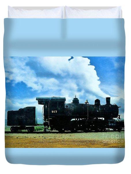 Norfolk Western Steam Locomotive 917 Duvet Cover