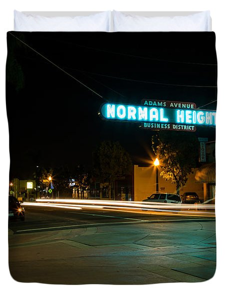Normal Heights Neon Duvet Cover
