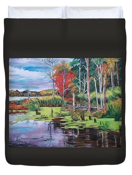 Norman Lake  Duvet Cover