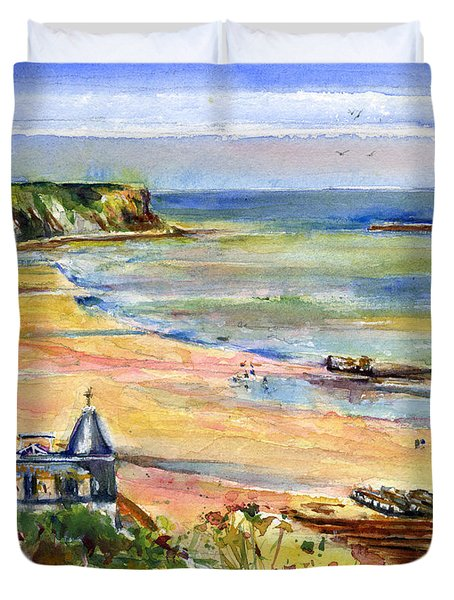 Normandy Beach Duvet Cover