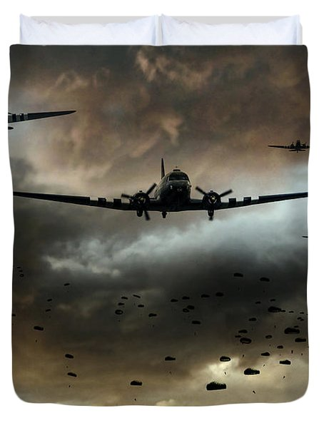 Normandy Invasion Duvet Cover
