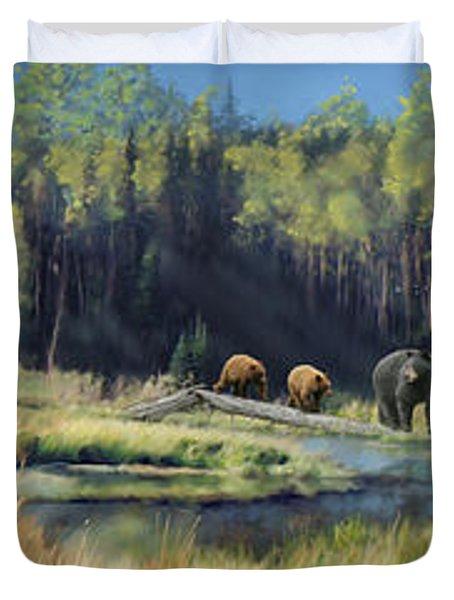 North American Waterhole Duvet Cover