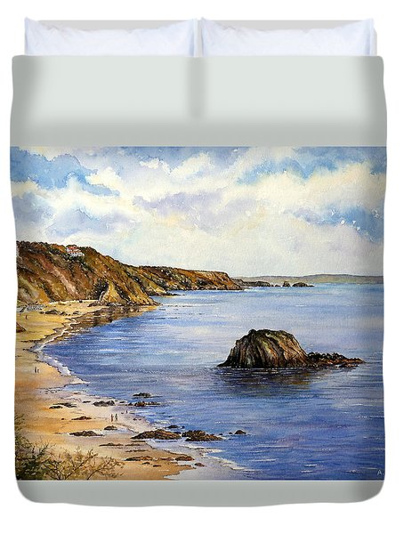 North Beach  Tenby Duvet Cover by Andrew Read