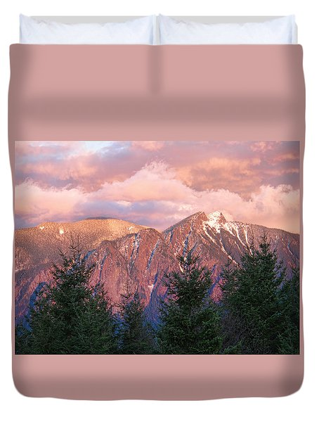 North Bend Washington Sunset 2 Duvet Cover