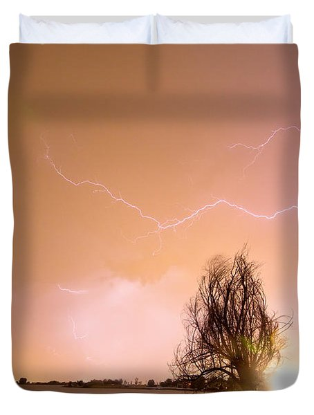 North Boulder County Colorado Lightning Strike Duvet Cover by James BO  Insogna