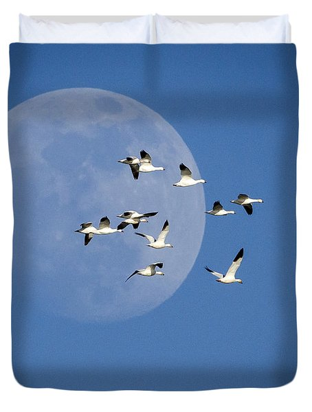 Duvet Cover featuring the photograph North Bound by Jack Bell
