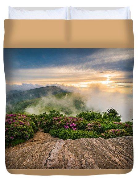 North Carolina Appalachian Trail Spring Blue Ridge Mountains Duvet Cover