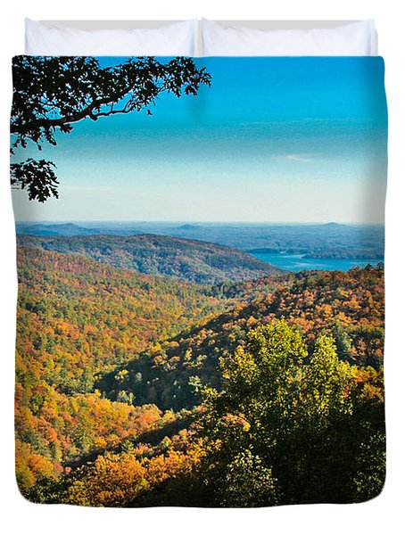 North Carolina Fall Foliage Duvet Cover
